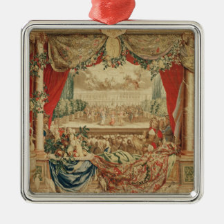 The Month of January/ The Louvre Silver-Colored Square Ornament