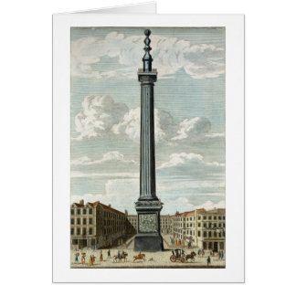 The Monument, engraved by William Henry Toms (c.17 Card