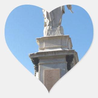 The monument Quattro Mori ( of the Four Moors ) Heart Sticker