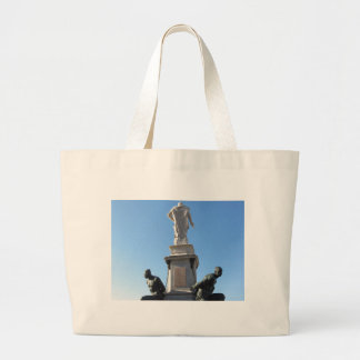 The monument Quattro Mori ( of the Four Moors ) Large Tote Bag