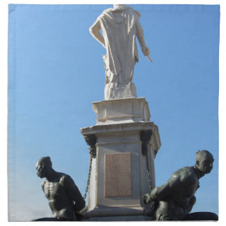 The monument Quattro Mori ( of the Four Moors ) Napkin