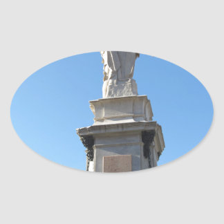 The monument Quattro Mori ( of the Four Moors ) Oval Sticker