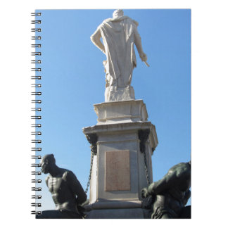 The monument Quattro Mori ( of the Four Moors ) Spiral Notebook