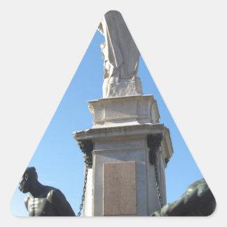 The monument Quattro Mori ( of the Four Moors ) Triangle Sticker