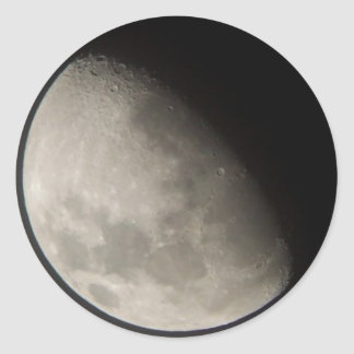 The moon classic round sticker