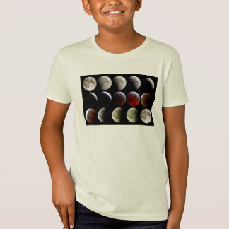 The Moon During a Full Lunar Eclipse Tee Shirts