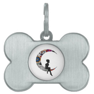 THE MOON GIRL PET NAME TAG