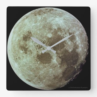 THE MOON...GOD'S VIEW #1 SQUARE WALL CLOCK