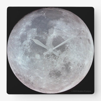 THE MOON...GOD'S VIEW #2 SQUARE WALL CLOCK