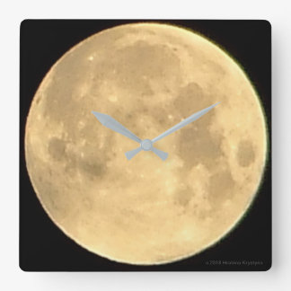 THE MOON...GOD'S VIEW #3 SQUARE WALL CLOCK