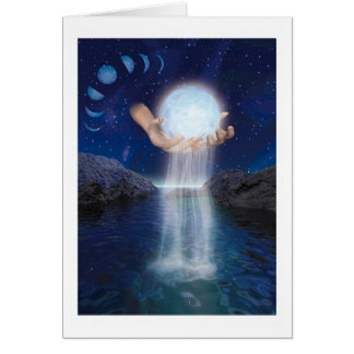 The Moon in Her Hands Card
