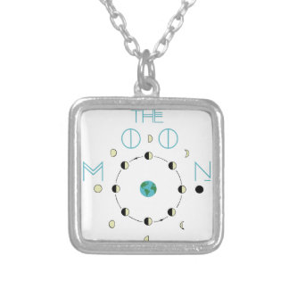 The Moon Phases Silver Plated Necklace