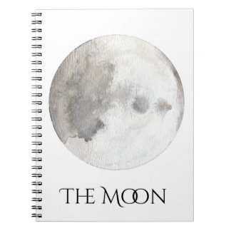 The Moon Planet Watercolor Notebook