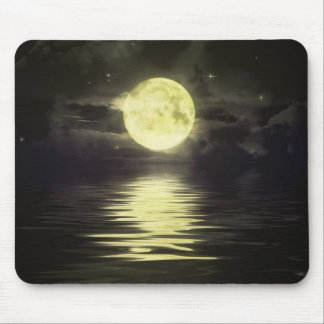 The Moon reflecting on the Water Mouse Pad