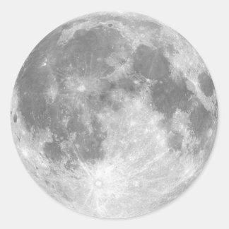The Moon Round Sticker