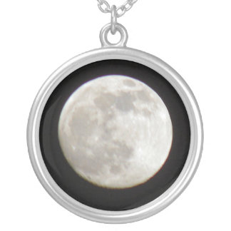 The Moon Silver Plated Necklace