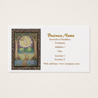 The Moon Tarot Business Card