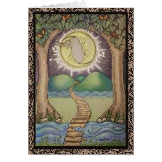 The Moon Tarot Card