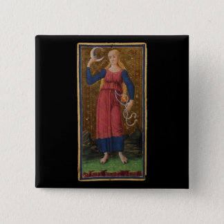 The Moon Tarot Card 2 Inch Square Button