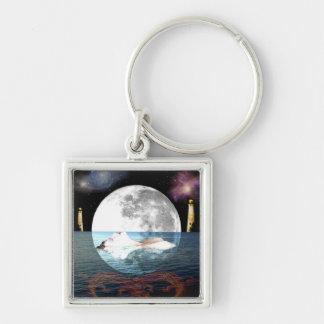 The Moon Tarot Card Art Keychain
