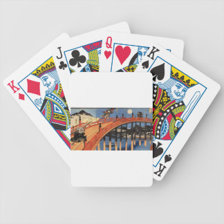 The moonlight fight between Yoshitsune and Benkei Bicycle Playing Cards