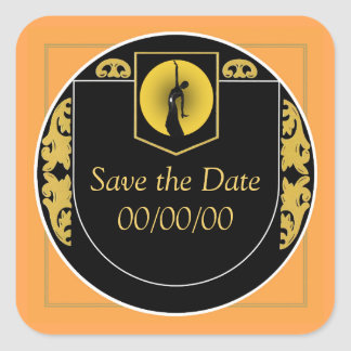The Moonlight Reminds Me 2 Save the Date Square Sticker