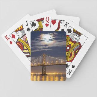 The moonrise tonight over the Bay Bridge Poker Deck