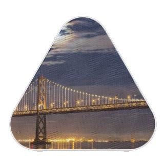 The moonrise tonight over the Bay Bridge Speaker