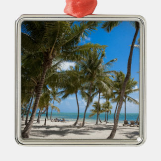 The Moorings Resort, Marathon, Key West, 2 Silver-Colored Square Ornament