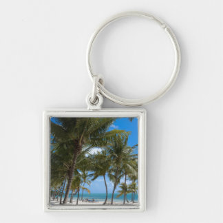 The Moorings Resort, Marathon, Key West, Silver-Colored Square Keychain