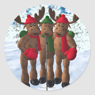 The Moose Brothers: Christmas Carol Classic Round Sticker