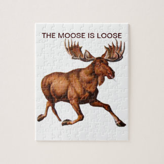 THE MOOSE IS LOOSE JIGSAW PUZZLE