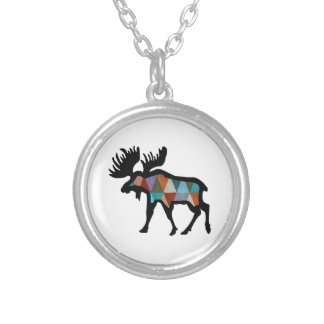 THE MOOSE STRONG SILVER PLATED NECKLACE