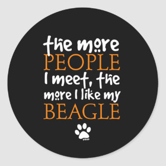 The more people I meet the more I like my Beagle Stickers