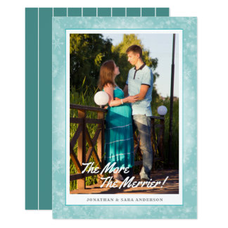 The More The Merrier Vertical Photo Christmas Card
