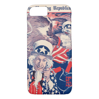 The morning Republican Uncle Sam Poster 1898 Resto iPhone 7 Case
