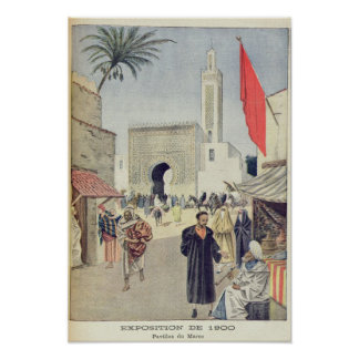 The Moroccan Pavilion at the Universal Exhibition Poster