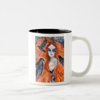 The Morrigan -  Warrior Queen Two-Tone Coffee Mug