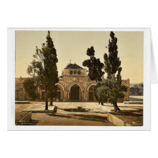 The Mosque of El-Aksa, Jerusalem, Holy Land magnif Card