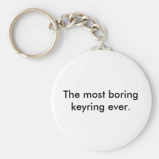 The most boring keyring ever. basic round button keychain