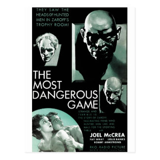 The Most Dangerous Game Postcard