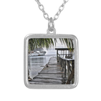 The most relaxing dock silver plated necklace