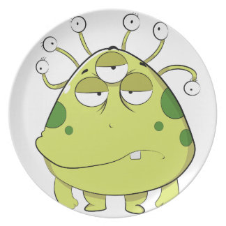 The Most Ugly Alien Ever Dinner Plate