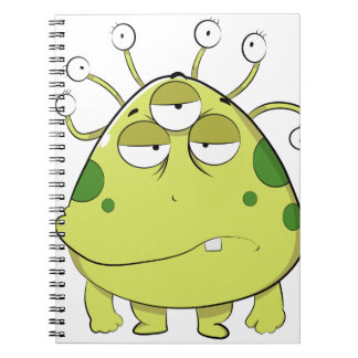 The Most Ugly Alien Ever Spiral Notebook