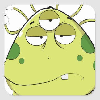 The Most Ugly Alien Ever Square Sticker