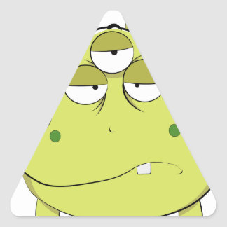 The Most Ugly Alien Ever Triangle Sticker