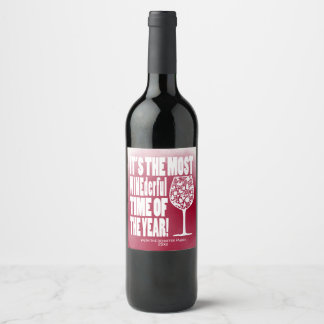 The Most WINEderful Time, Holiday Wine Label