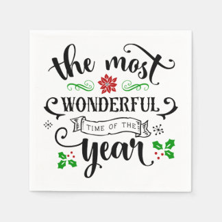 The Most Wonderful Time of the Year Christmas | Disposable Napkin