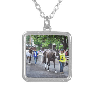 The Mother Goose Stakes Silver Plated Necklace