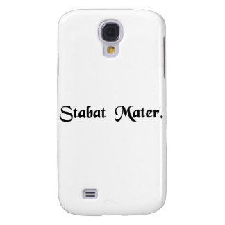The mother was standing. samsung galaxy s4 cases